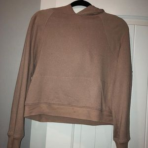 a cropped sweatshirt